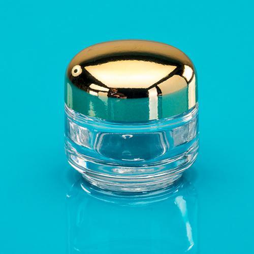 30 ml Klar-Glas-Dose, Deckel gold elox.