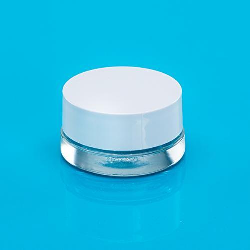 50 ml Klar-Glas-Dose Deckel weiß, Einlage