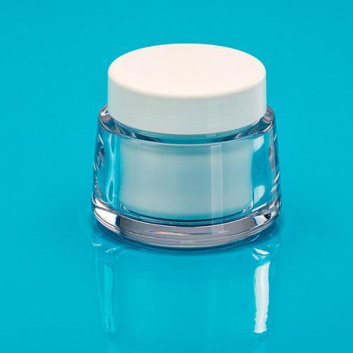 200 ml Dose, glasklar, SAN DS-Einsatz, weiss, PP, unmontiert