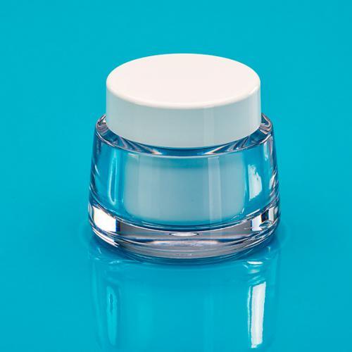 50 ml Dose SAN glasklar  DS.-Einsatz PP weiß, unmontiert