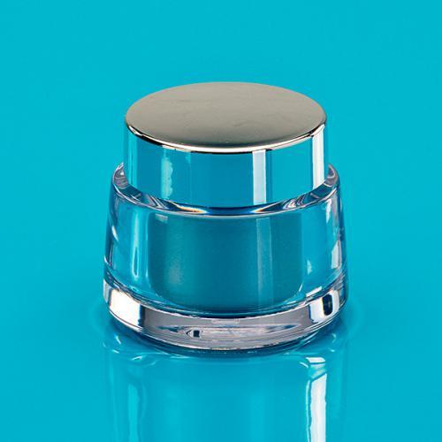 15 ml Dose SAN klar  Einsatz PP silber matt unmontiert