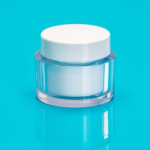 30 ml jar clear SAN,  jar-insert white PP unmount., lid white