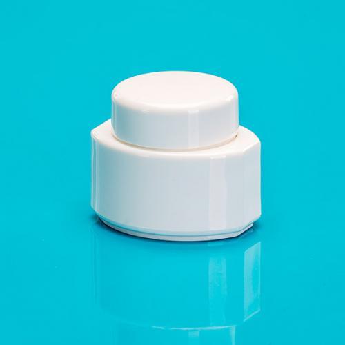 15 ml Dose oval, weiß PP/PS Deckel weiß,Tri-Seal Einlage