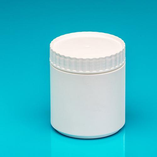 Dose 500 ml, PE weiß Deckel weiß, PE Abdeckscheibe