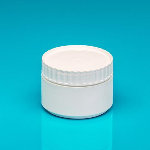 250 ml Dose, weiß, einwandig, PE, Deckel