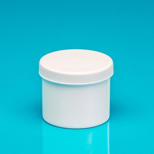 "100 ml Dose, weiß, einwandig, PP Deckelrand geriffelt ""Pharma"""