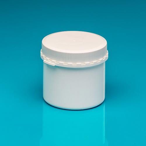 "500 ml Schraubdeckeldose, weiß PP, Originalitätsverschluß ""Pharma"""