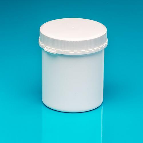 "625 ml Schraubdeckeldose, weiß PP, Originalitätsverschluß ""Pharma"""