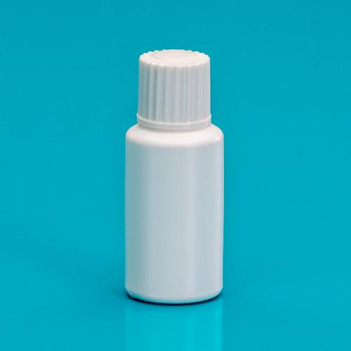7 ml Flasche weiß LD/HDPE, Deckel weiß, einwandig
