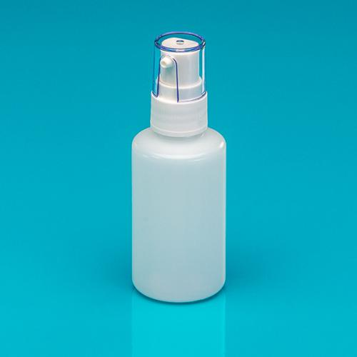 50 ml Flasche natur HDPE, Dispenser