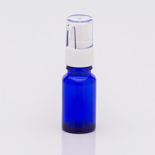 10 ml Blauglasflasche, Dispenser Hub 0,14 ml, Kappe klar, Steigrohr ungekürzt