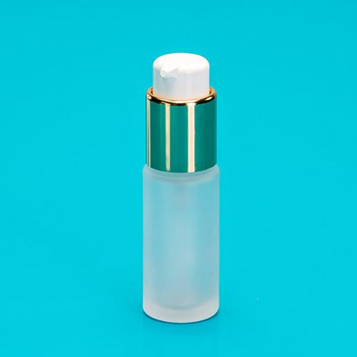20 ml bottle frosted glass,  dispenser gold twist-lock