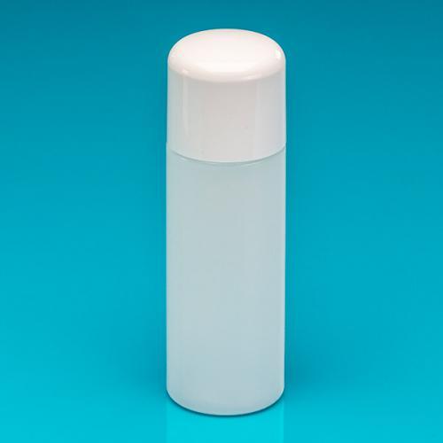 """200 ml Flasche, natur, HDPE """"Softline""""  Verschluss weiß, PP/PS, Spritzeinsatz"""