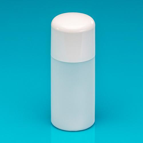 """150 ml Flasche, natur, HDPE """"Softline"""" Verschluss weiß, PP/PS, Spritzeinsatz"""