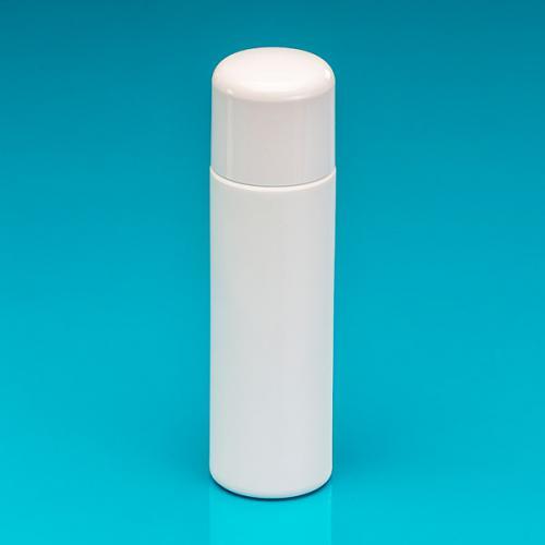 """250 ml Flasche weiß, HDPE """"Softline"""", Verschluss weiß, PP/PS, Spritzeinsatz"""