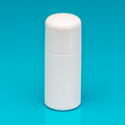 """150 ml Flasche, weiß, HDPE """"Softline"""", Verschluss weiß, PP/PS, Spritzeinsatz"""