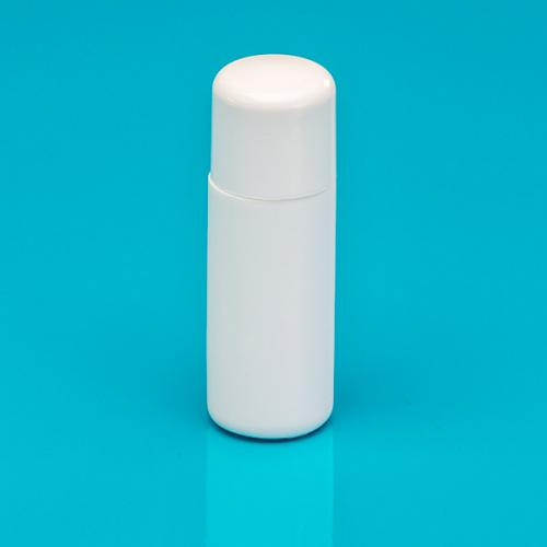 15 ml bottle white HDPE,  lid white SAN with sealing-lip