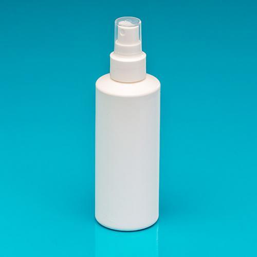 200 ml Flasche weiß, HDPE, Sprühkopf weiß, Hub 0,7 ml, Steigrohr ungekürzt