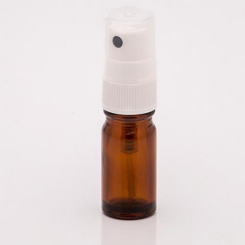 5 ml Braunglasflasche DIN18, Sprühkopf Hub 0,10 ml, Steigrohr ungekürzt