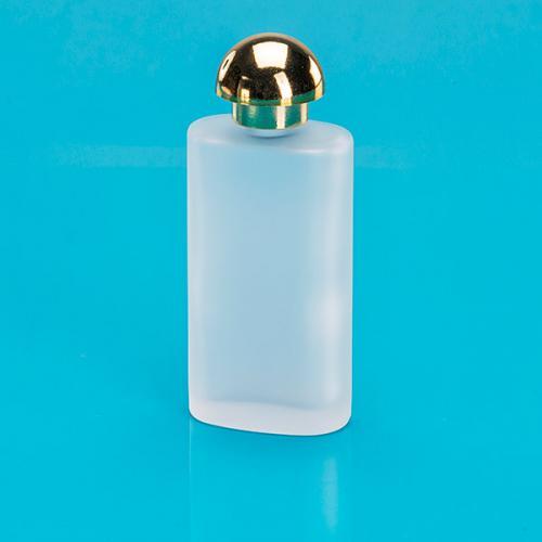 50 ml Glas-Flasche, oval, edelmatt, E5