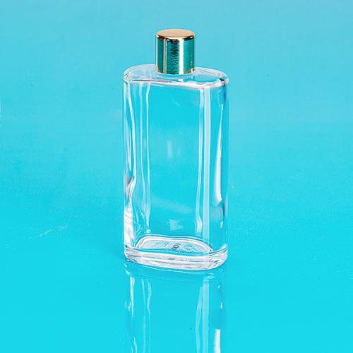 100 ml Glas-Flasche, klar, oval