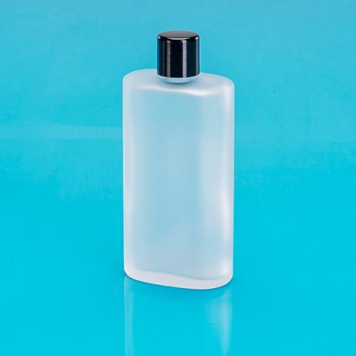 100 ml Glas-Flasche, edelmatt, oval