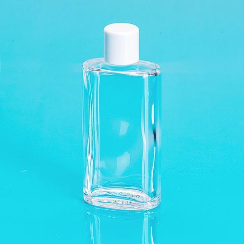50 ml Glas-Flasche, oval, klar