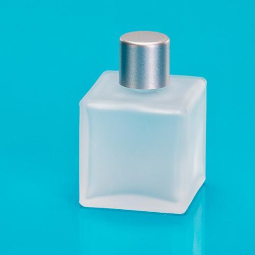50 ml Glas-Flasche, viereckig, matt