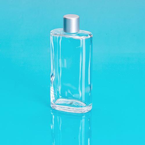 Flasche-Glas 100 ml klar oval Schraubverschluß einwandig