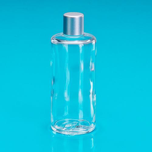 100 ml Glasflasche, zylindrig Schraubverschluss einwandig mattsilber