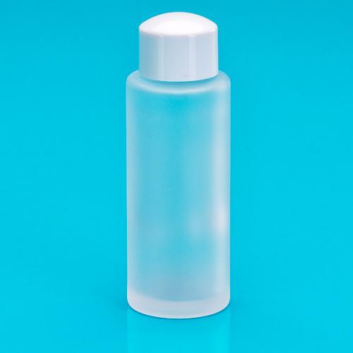 50 ml Glas-Flasche rund matt Schraubverschluss weiss HF