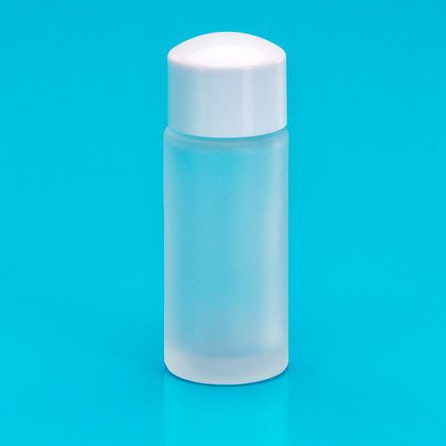 20 ml Glas-Flasche edelmatt einwandig Schraubverschluß weiß