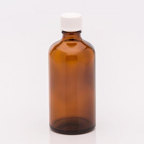 100 ml Braunglasflasche, Schraubkappe Tropfeinsatz, für wässrige/ölige Lösung