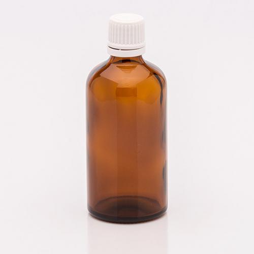 100 ml Braunglasflasche,