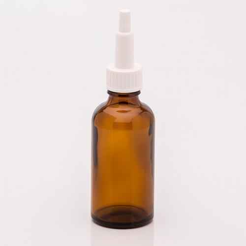 50 ml Braunglasflasche Schraubkappen-Pipette weiß