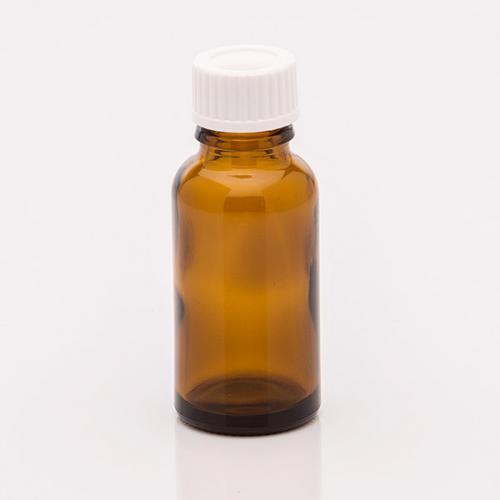 20 ml Braunglasflasche Schraubverschluss weiß Dichteinlage
