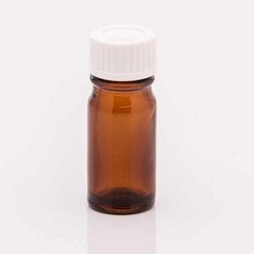 5 ml Braunglasflasche Schraubverschluss weiß, Dichteinlage