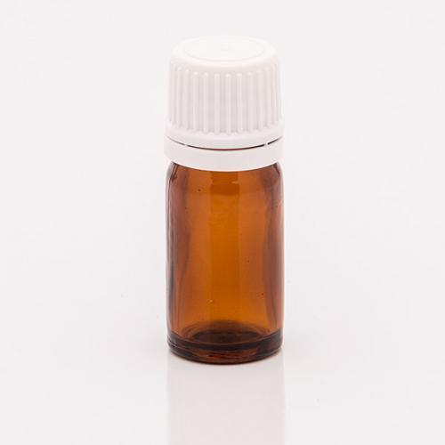 5 ml Braunglasflasche, Originalitätsverschl. Tropfereinsatz f. wässrige u. ölige Lösungen