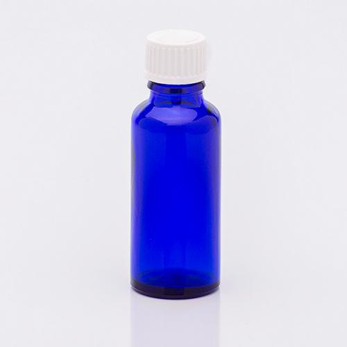 30 ml Blauglasflasche Schraubverschl. Tropfer weit