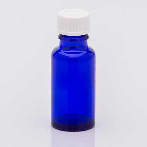 20 ml Blauglasflasche Schraubverschl. weiß, Dichteinlage