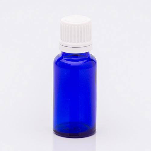 20 ml Blauglasflasche OV-Verschluss, Tropfer weit