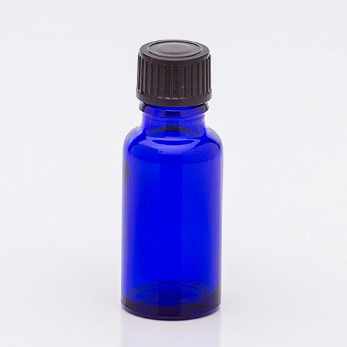 20 ml Blauglasflasche Schraubverschl. schwarz, Tropfer