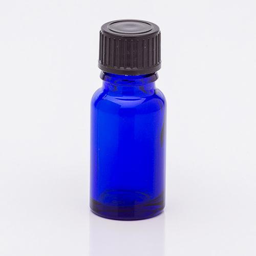 10 ml Blauglasflasche, Schraubverschl. schwarz, Tropfer weit