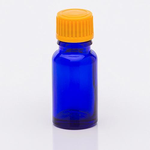 10 ml Blauglasflasche Schraubverschluss orange Troper weit