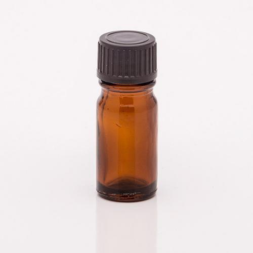 5 ml Braunglasflasche Schraubverschluss schwarz, Tropfer weit
