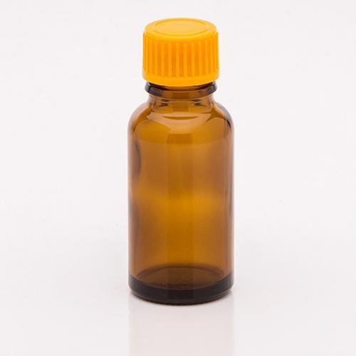 20 ml Braunglasflasche Schraubverschluss orange, Tropfer weit