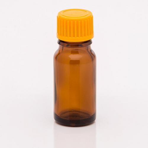 10 ml Braunglasflasche Schraubverschluss orange, Tropfer weit