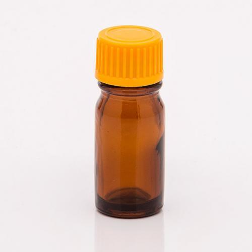 5 ml Braunglasflasche Schraubverschluss orange, Tropfer weit