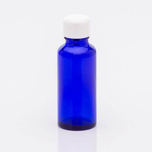 30 ml Blauglasflasche Schraubverschluss weiß