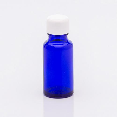 20 ml Blauglasflasche Schraubkappe weiß